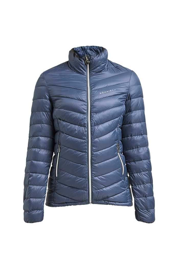 Picture of Rohnisch zns  Ladies Light Down Jacket - Dusty Blue
