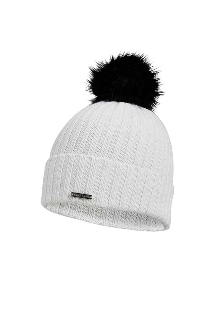 Picture of Rohnisch Ladies Pompom Beanie - Ivory White