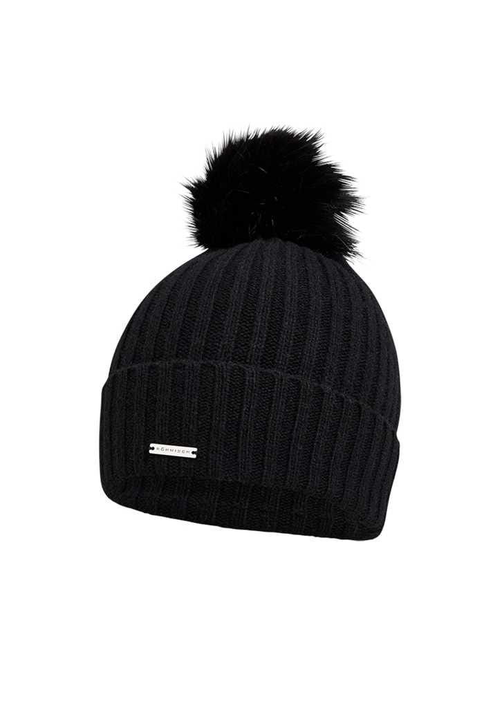 Picture of Rohnisch ZNS Ladies Pompom Beanie - Black