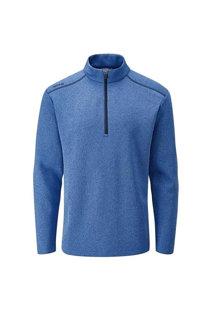 Picture of Ping Men's Ramsey 1/4 Zip Sweater - Snorkel Blue Marl