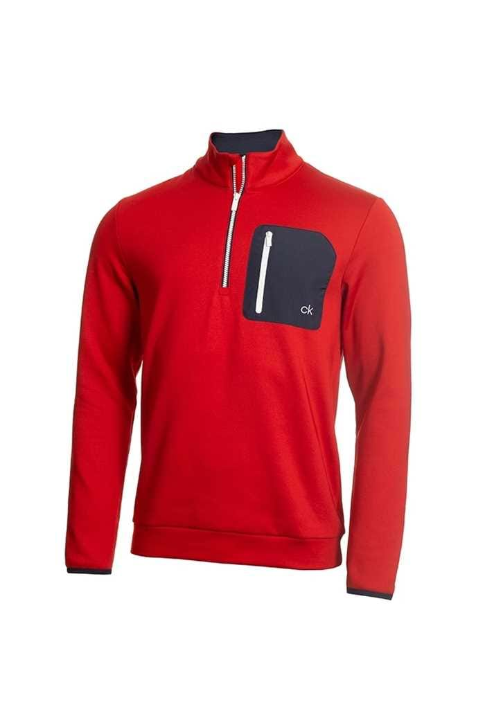 Picture of Calvin Klein Men's Golf Voyage Half Zip Sweater - Red