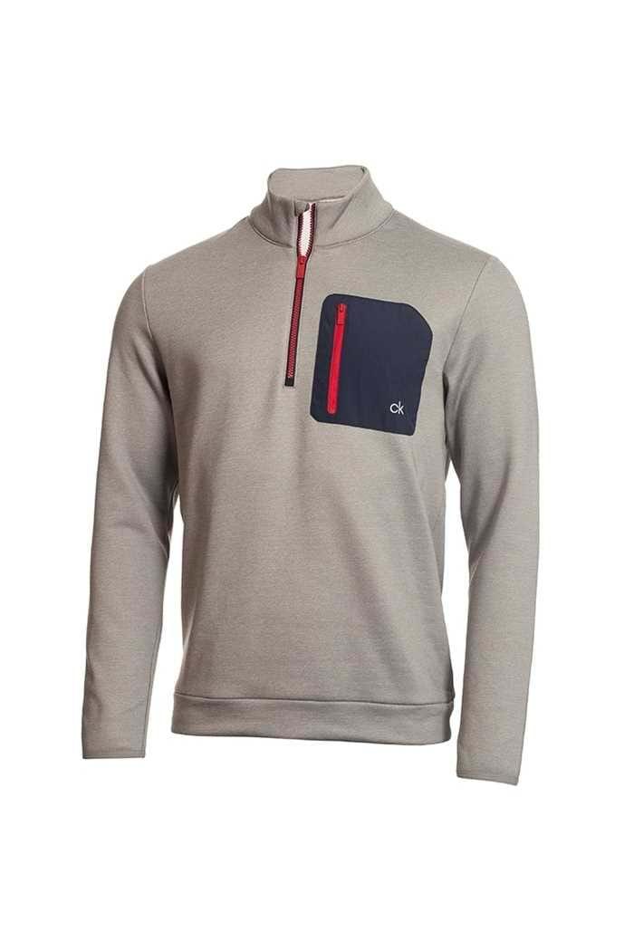 Picture of Calvin Klein Men's Golf Voyage Half Zip Sweater - Grey Marl