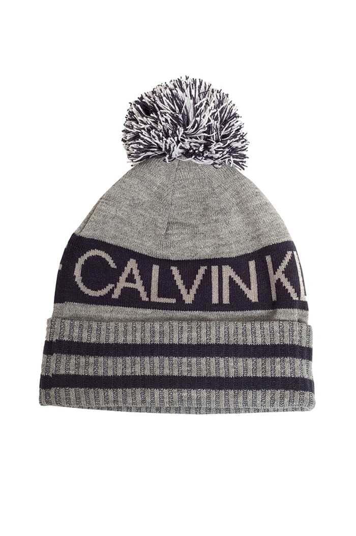 Picture of Calvin Klein ZNS Men's Golf Quadrant Bobble Hat - Grey Marl