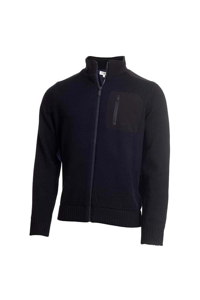 Picture of Calvin Klein zns Men's Golf Navigation Lined Sweater - Navy
