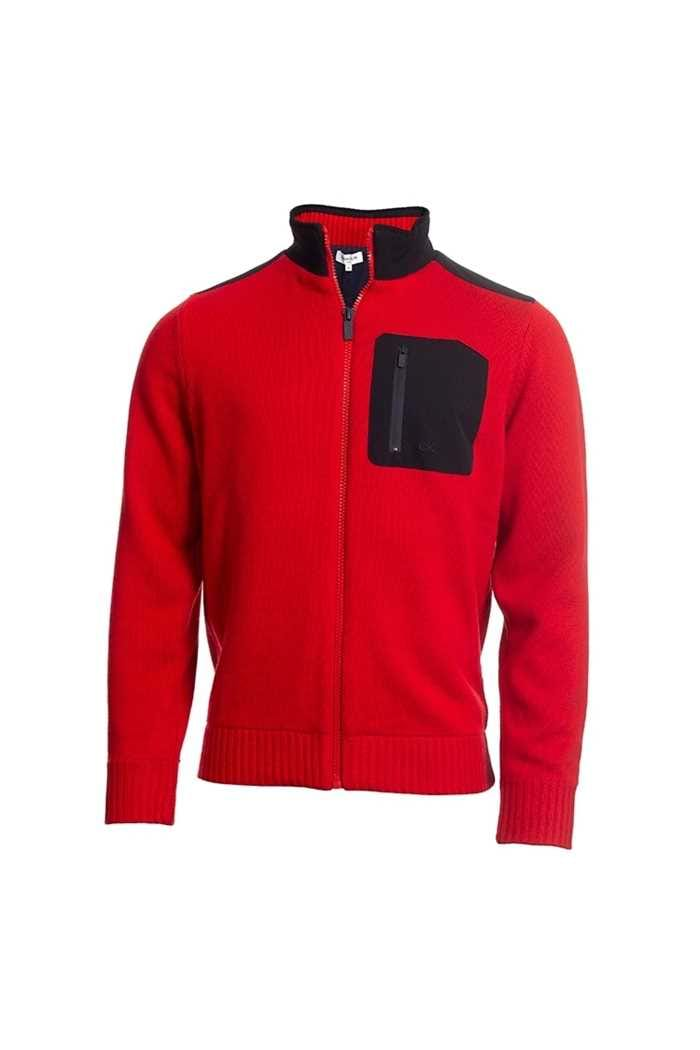 Picture of Calvin Klein Men's Golf Navigation Lined Sweater - Red