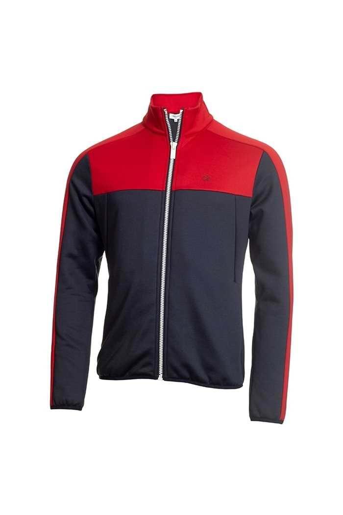 Picture of Calvin Klein Men's Golf Atlas Full Zip Jacket / Sweater - Navy / Red