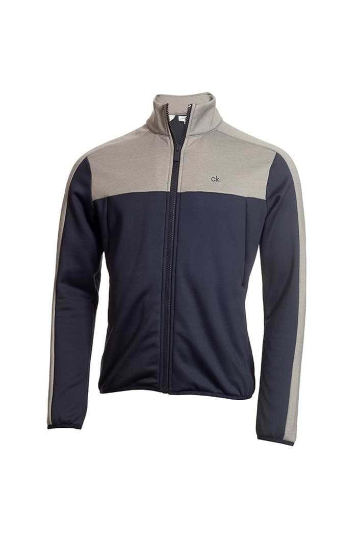 Picture of Calvin Klein ZNS Men's Golf Atlas Full Zip Jacket / Sweater - Navy / Marl