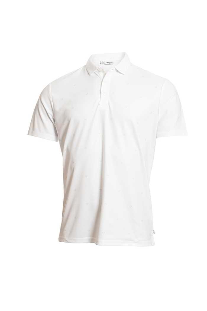 Picture of Calvin Klein Men's Golf Monogram Polo Shirt - White