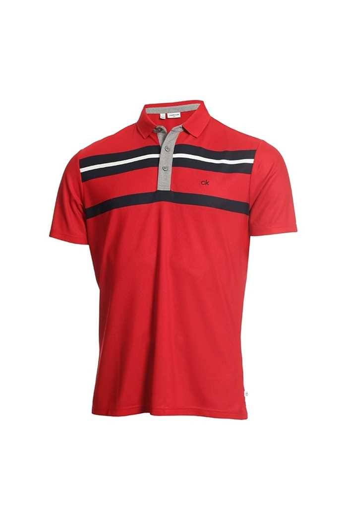 Picture of Calvin Klein Men's Golf Anchor Polo Shirt - Red / Navy