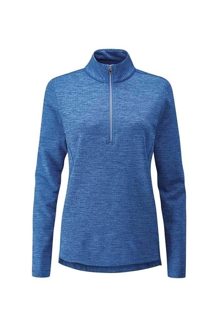 Picture of Ping ZNS Ladies Escape Half Zip Fleece Top - Snorkel Blue Marl