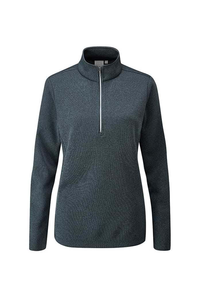 Picture of Ping Ladies Lyla Half Zip Fleece Golf Top - Ink Marl
