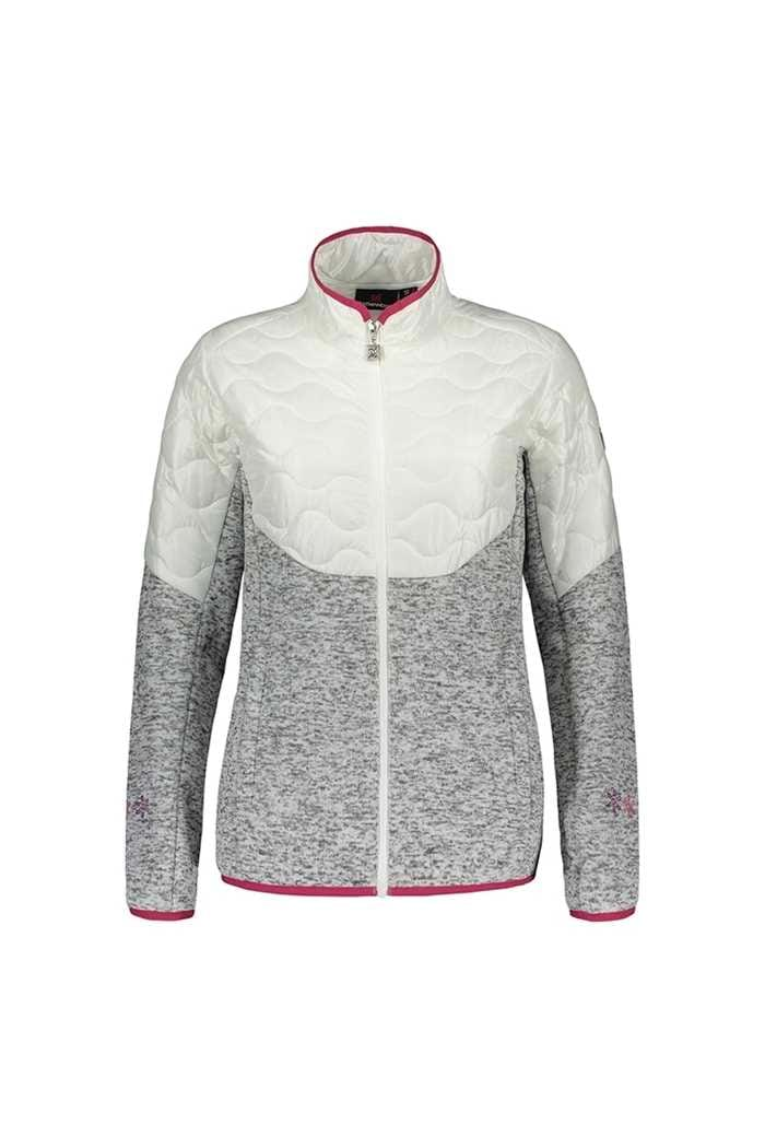 Picture of Catmandoo Ladies Ollons Hybrid Knit Fleece Jacket - White / Grey