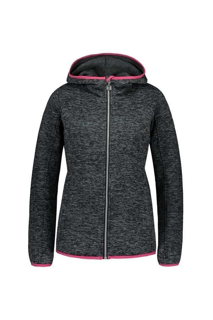 Picture of Catmandoo Ladies Mew Knit Fleece Jacket - Grey / Black Melange