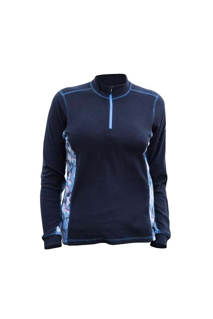 Picture of Catmandoo Ladies Shirley Microfleece Midlayer - Navy / Blue