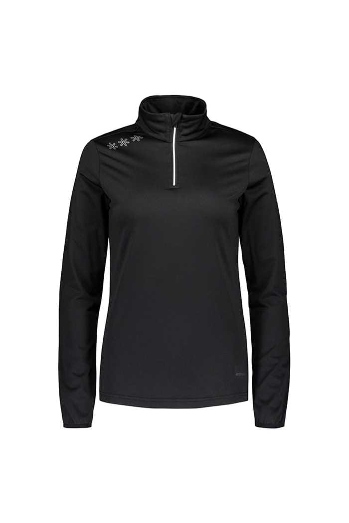 Picture of Catmandoo Ladies Slona 1/2 Zip Midlayer Top - Black