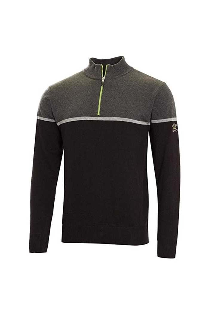 Picture of Cutter & Buck ZNS Tech Colour Block  Lined Windblock Sweater - Black