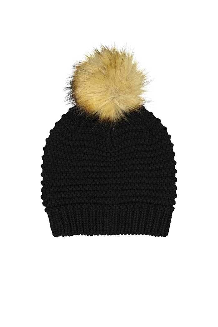 Picture of Catmandoo Ladies Ilo Reverse Knit Beanie - Black