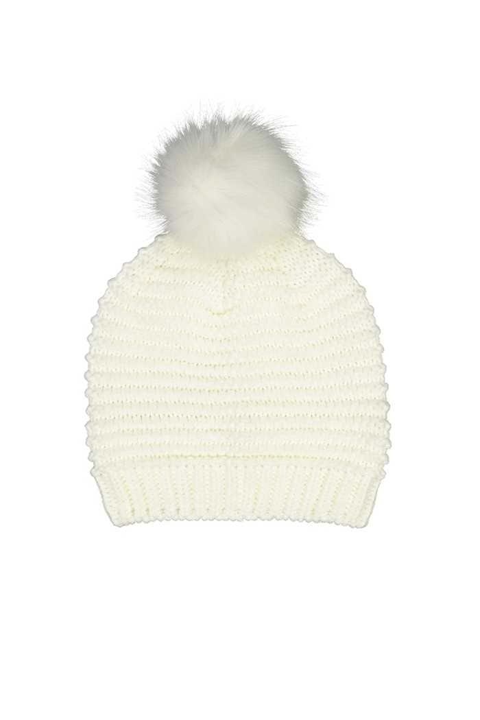 Picture of Catmandoo Ladies Ilo Reverse Knit Beanie - Cream