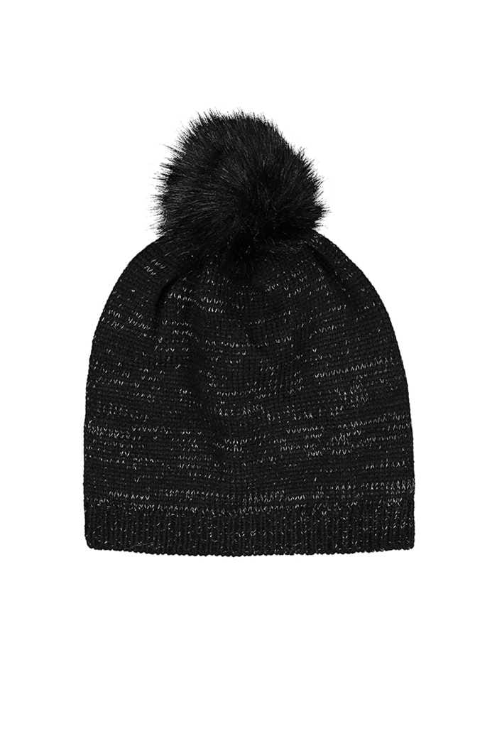Picture of Catmandoo Ladies Zoe Glitter Yarn Beanie - Black