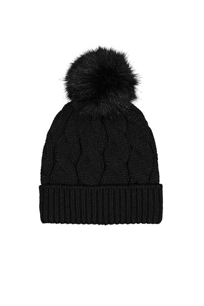 Picture of Catmandoo Ladies Agnes Cable Knit Beanie - Black