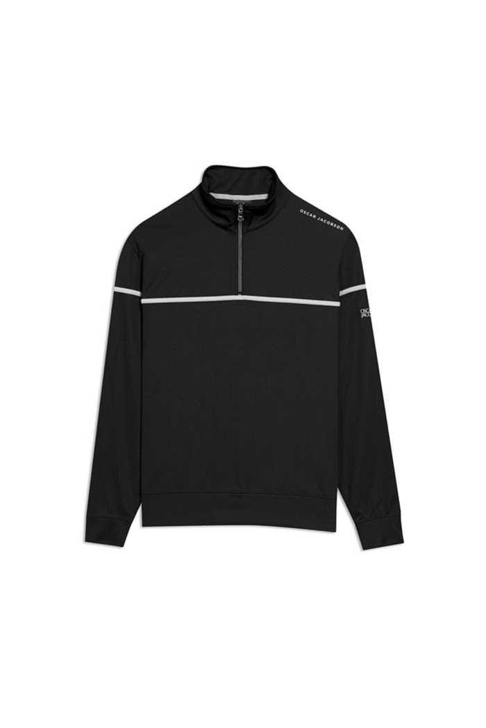 Picture of Oscar Jacobson Men's Bill Course Half Zip Pullover - Black 310