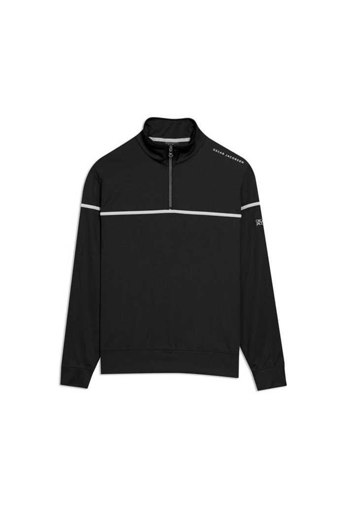 Picture of Oscar Jacobson Men's Bill Course Half Zip Pullover - Black 310