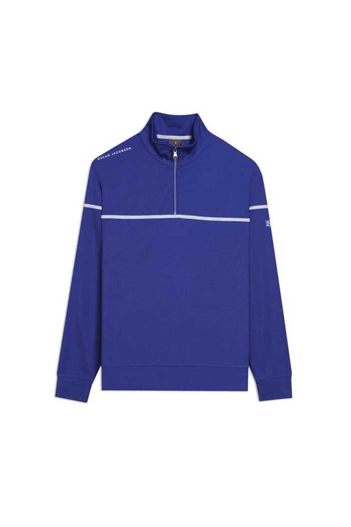 Picture of Oscar Jacobson Men's Bill Course Half Zip Pullover - Blue 237