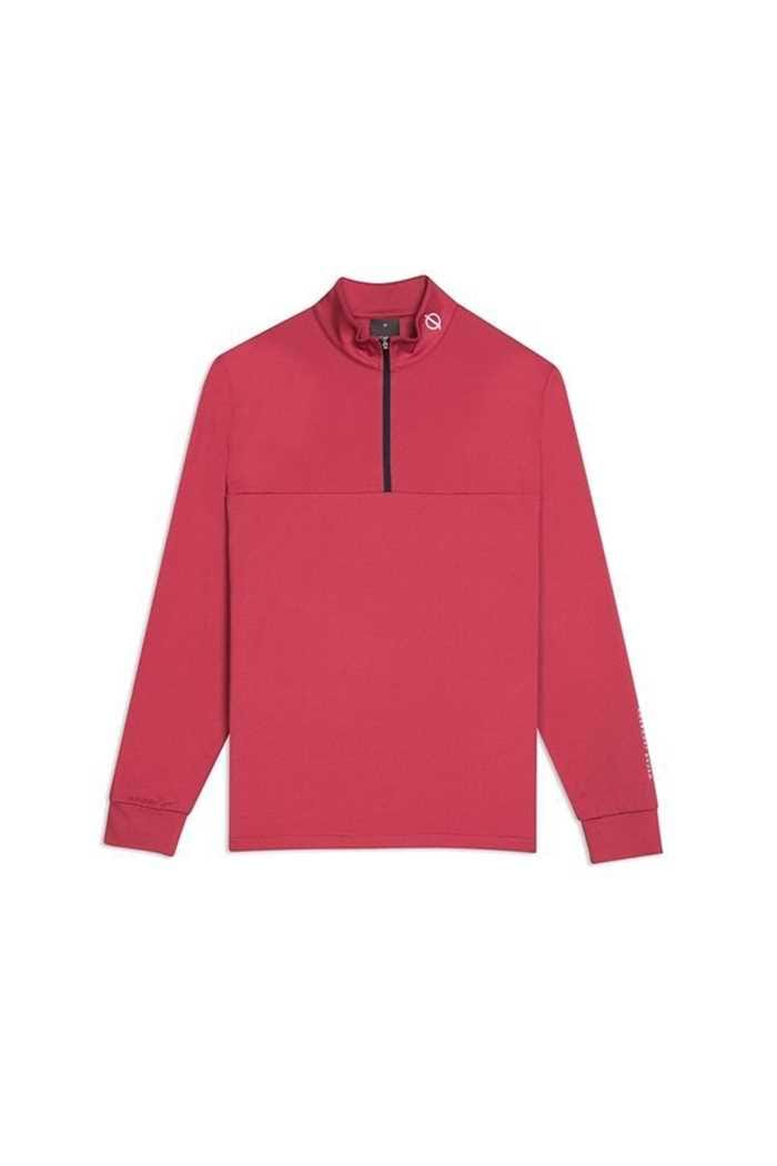 Picture of Oscar Jacobson Jonathan Thermal Half Zip Top - Red 622
