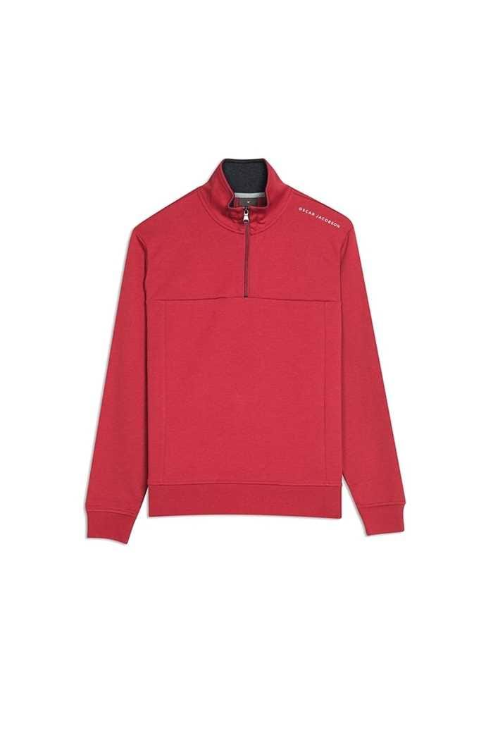 Picture of Oscar Jacobson Hawkes Course 1/2 Zip Pullover - Red 622