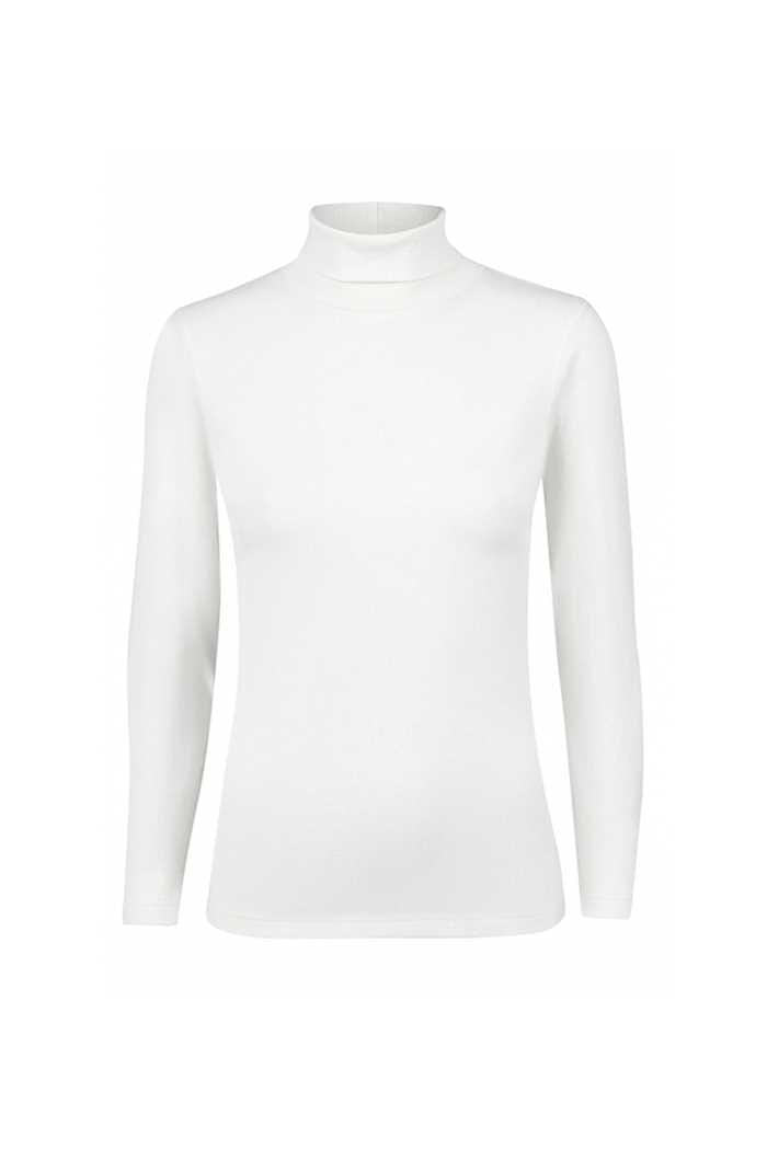 Picture of Daily Sports Maggie Long Sleeve Rollneck Top - Ivory