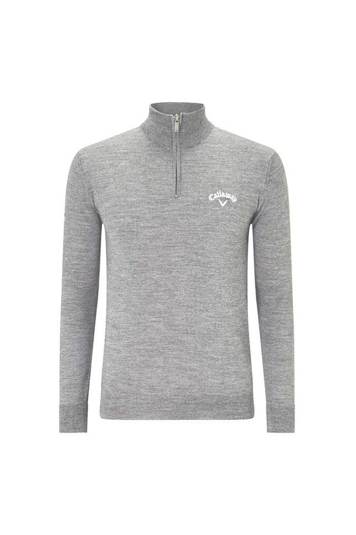 Picture of Callaway Golf Men's 1/4 Zip Blended Merino Sweater - Steel Heather