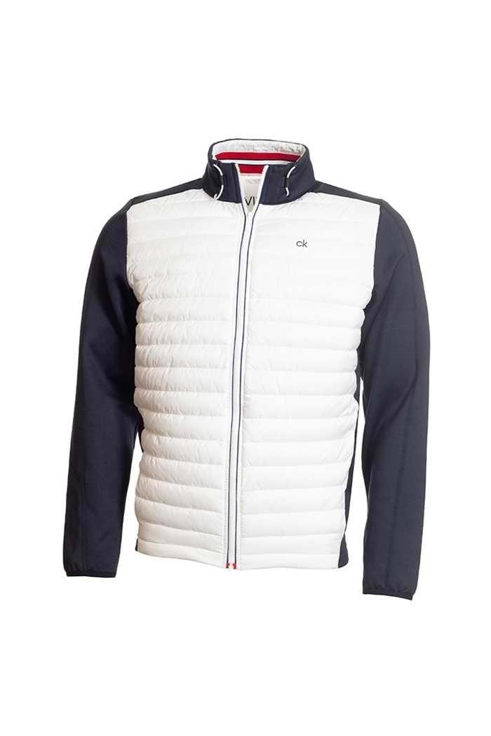Picture of Calvin Klein zns Men's Golf Hybrid Jacket - Navy / White
