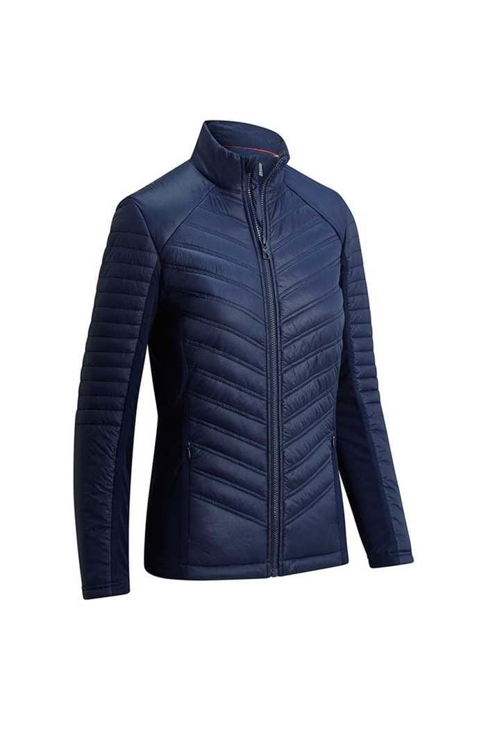 Picture of Callaway Golf Ladies Mixed Media Puffer Jacket - Peacoat