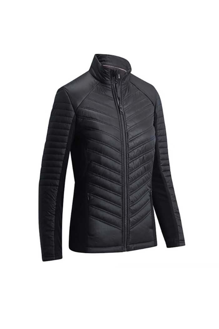 Picture of Callaway Ladies Mixed Media Puffer Jacket - Caviar