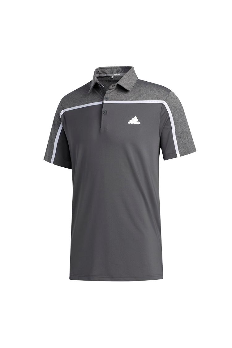 Picture of adidas Men's Ultimate 365 3 Stripe Polo Shirt - Grey Five / Black Melange