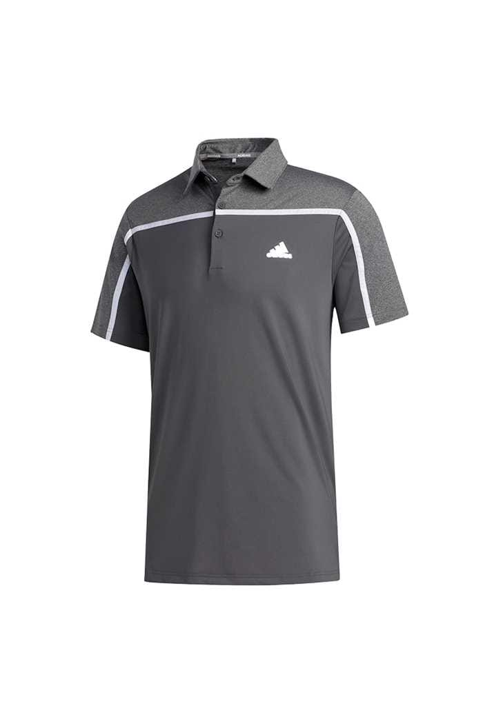 Picture of adidas Men's Ultimate 365 3 Stripe Polo Shirt - Grey Five / Black Melange