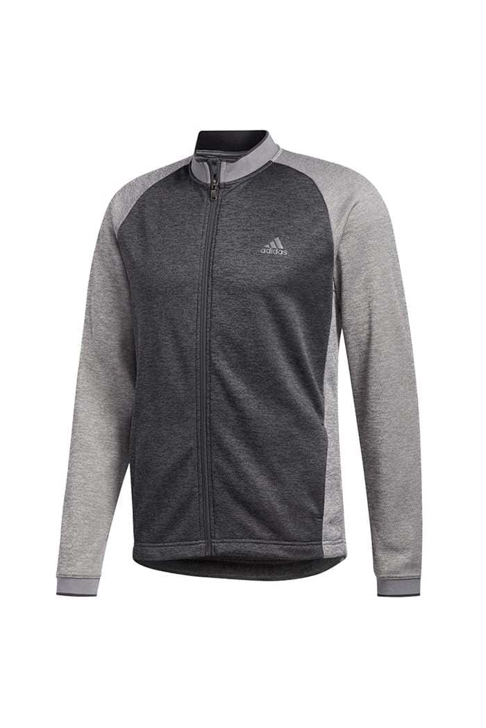 Picture of adidas Men's Midweight Full Zip Textured Jacket - Grey Three
