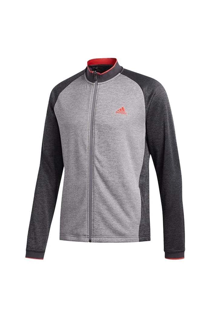 Picture of adidas Men's Midweight Full Zip Textured Jacket - Grey Six
