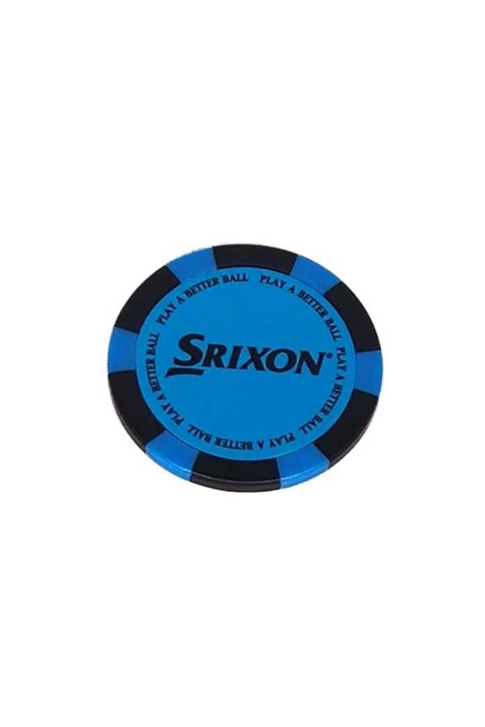 Picture of Srixon Poker Chip Ball Marker - Bright Blue / Black