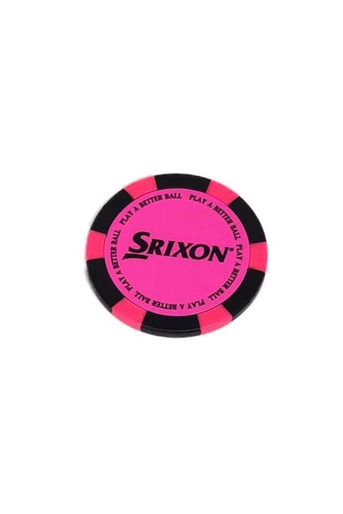Picture of Srixon Poker Chip Ball Marker - Bright Pink / Black