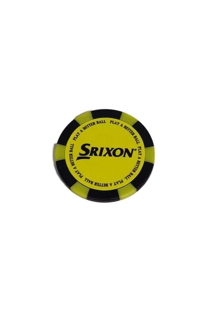 Picture of Srixon Poker Chip Ball Marker - Yellow / Black