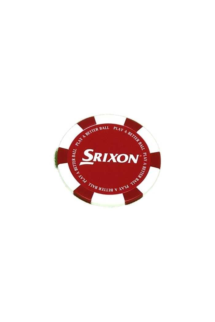 Picture of Srixon Poker Chip Ball Marker - Red / White