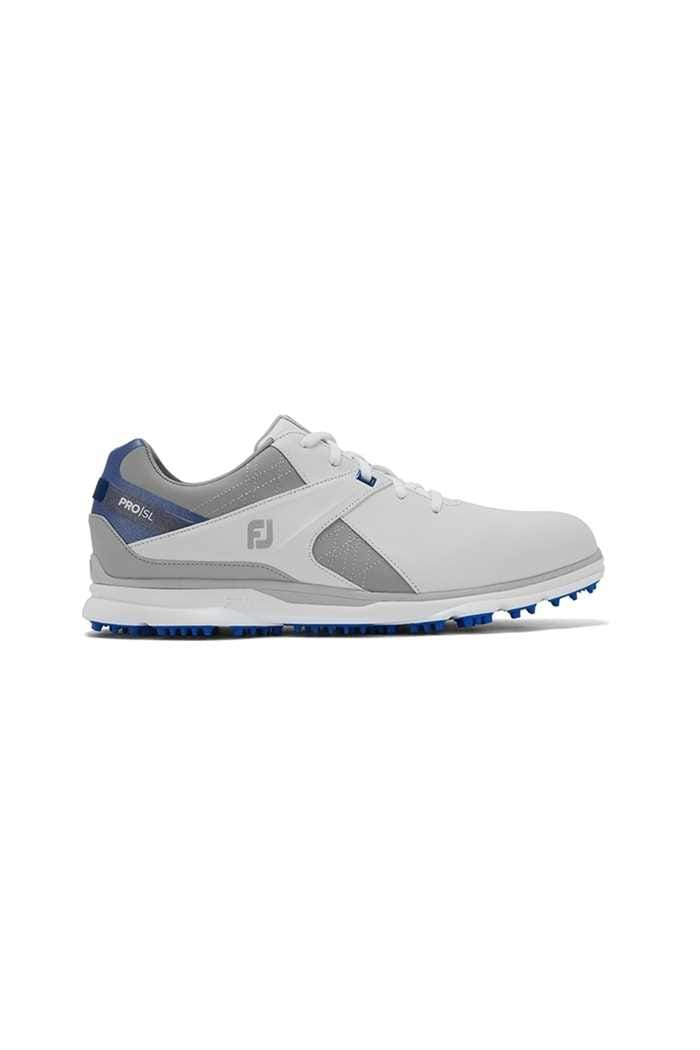Picture of Footjoy Men's Pro SL Golf Shoes - White / Grey / Blue