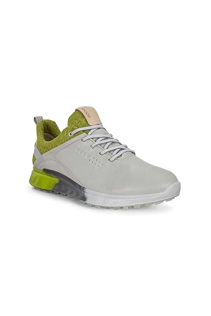 Picture of Ecco Men's Golf S-Three Golf Shoes - Concrete / Lime
