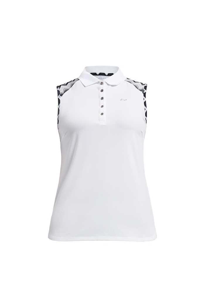 Picture of Rohnisch Ladies Element Sleeveless Polo Shirt - Zigzag Sand