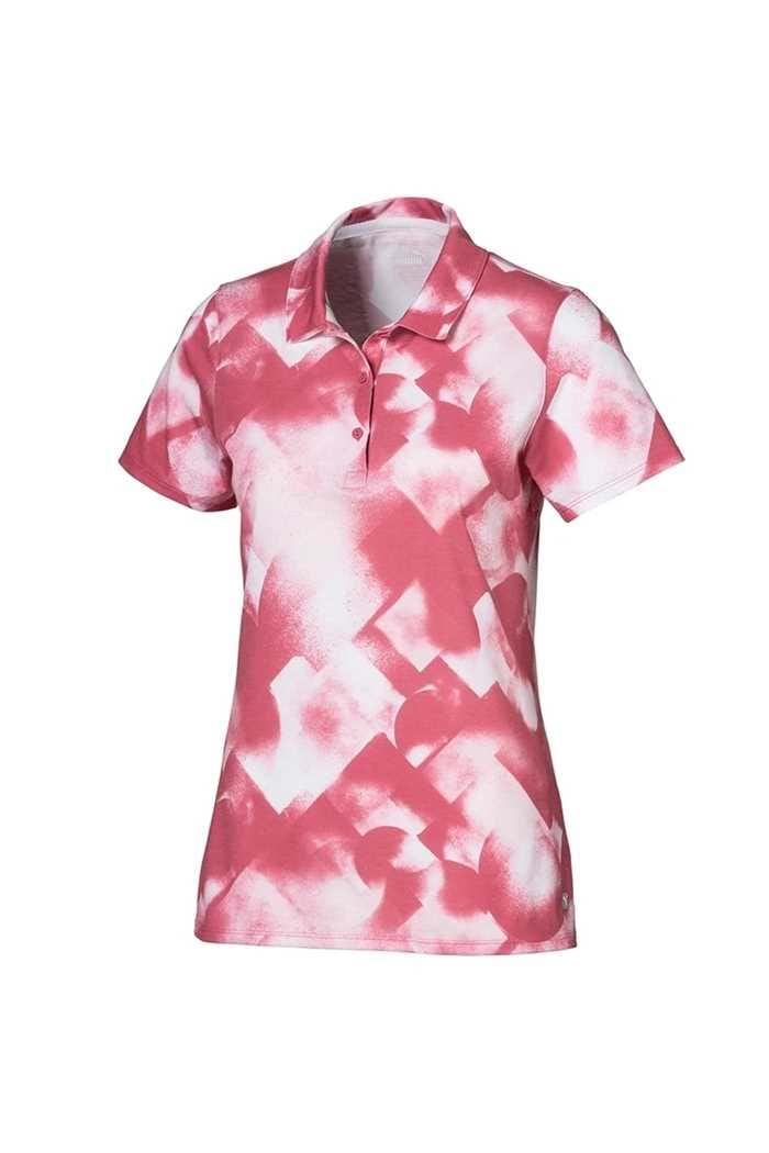 Picture of Puma Golf Women's Soft Geo Polo Top - Rapture Rose