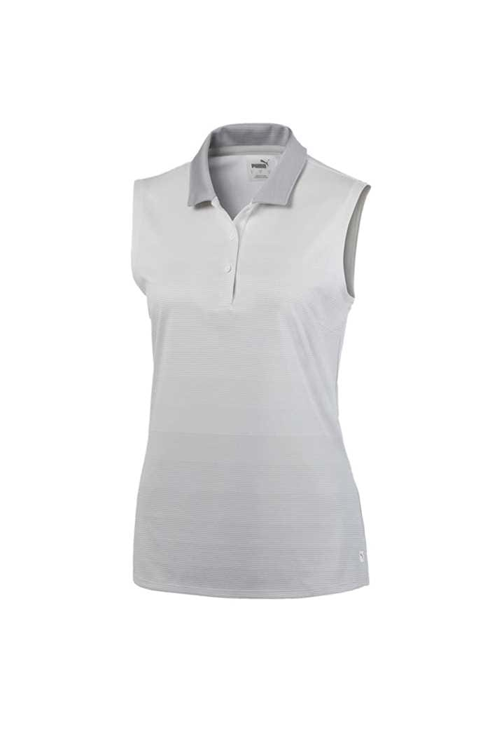 Picture of Puma Golf Women's Ombre Sleeveless Polo Shirt - Bright White