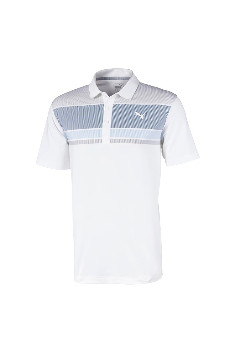 Picture of Puma Golf Men's Road Map Polo Shirt - Peacoat / Blue Bell