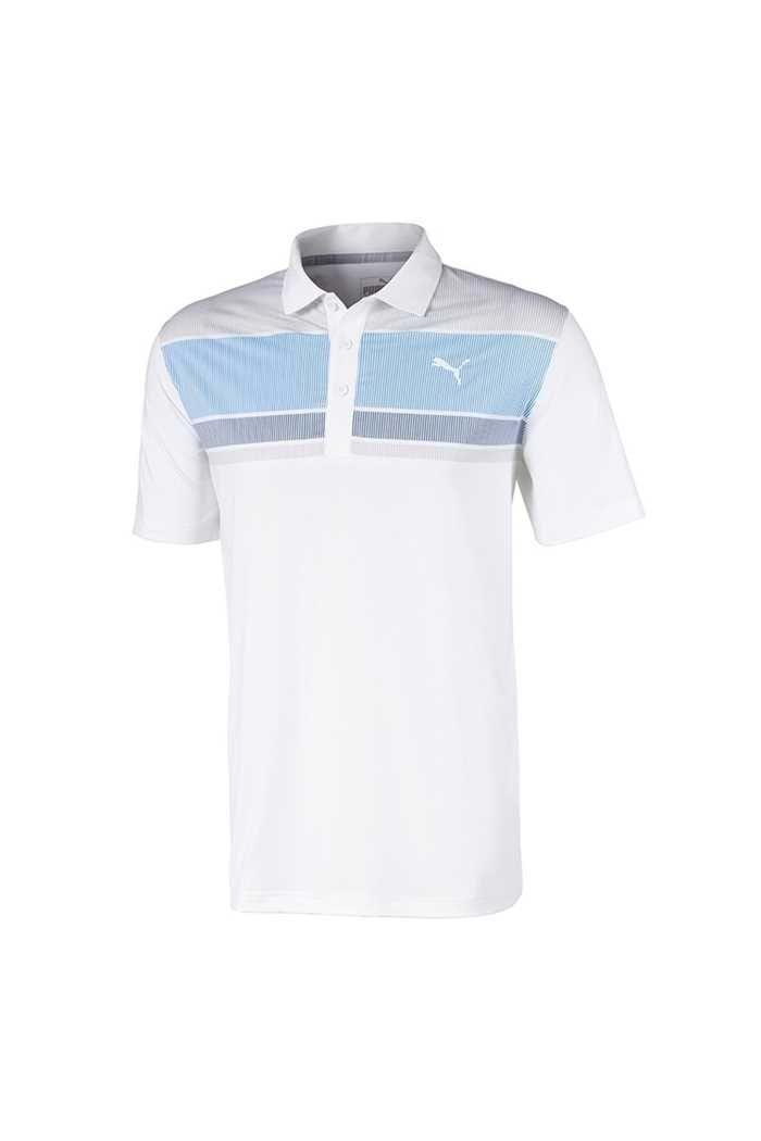Picture of Puma Golf Men's Road Map Polo Shirt - Ibiza Blue / Dark Denim