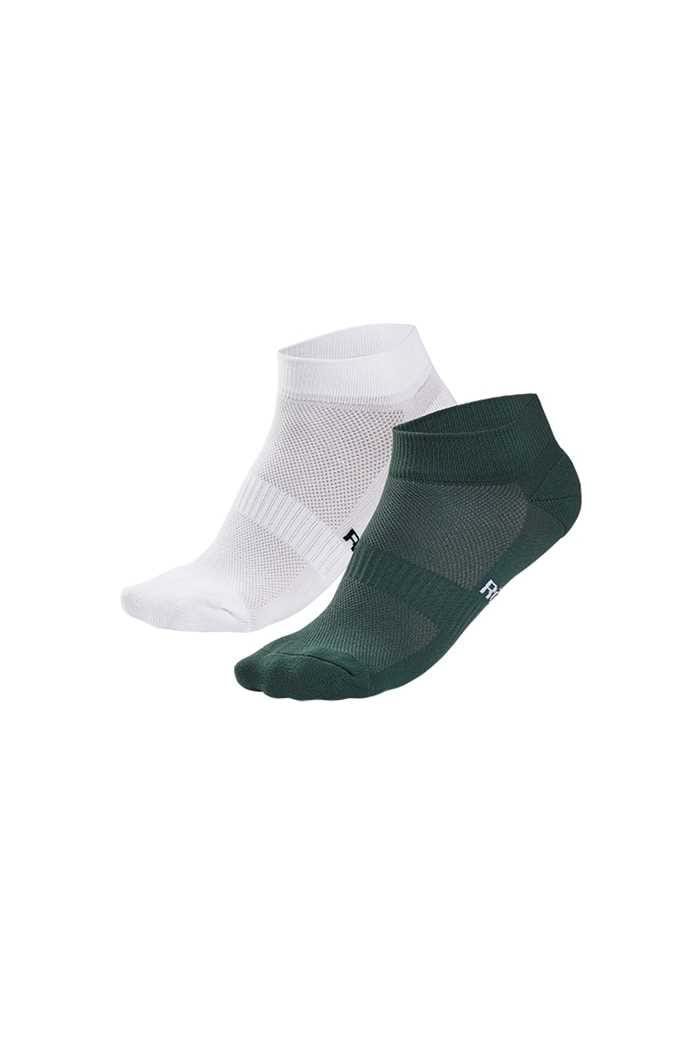 Picture of Rohnisch Ladies 2 Pack Short Socks - Palm Green / White